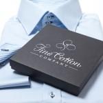 Das Maßhemd in der Geschenkbox für Sie! Bild: Fine Cotton